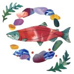 Wild Salmon: Creative Collage with Sarah Clement @ on Zoom